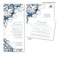 Stationery, blue, silver, invitation, Classic Wedding Invitations, Invitations, Wedding, Elegant, Swirls, Simplyou design