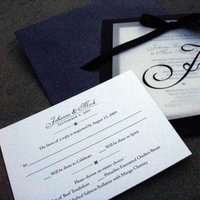 Favors & Gifts, Stationery, white, black, favor, invitation, Classic Wedding Invitations, Invitations, Ceremony Programs, Programs, Wedding, Tags, Simplyou design