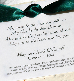 Inspiration, Reception, Flowers & Decor, Favors & Gifts, white, yellow, orange, pink, red, purple, blue, green, brown, black, silver, gold, favor, Eco-Friendly, Eco-Friendly Wedding Favors & Gifts, Custom, Party, Board, Irish, Plantable, Favors by lisa, Irish blessing