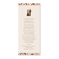 Stationery, pink, brown, invitation, Invitations, Party, Dinner, Rehearsal, Simplyou design