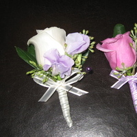 Flowers & Decor, white, purple, Boutonnieres, Flowers, Rose, Boutonniere, Les fleurs de vie
