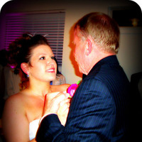 Beauty, Reception, Flowers & Decor, Jewelry, pink, blue, Makeup, Bride, Dance, Father, Hair, Dad