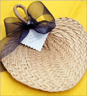 Ceremony, Inspiration, Reception, Flowers & Decor, Bridesmaids, Bridesmaids Dresses, Beach Wedding Dresses, Fashion, white, yellow, orange, pink, red, purple, blue, green, brown, black, silver, gold, Beach, Beach Wedding Flowers & Decor, Fan, Board, Palm, Sun, Cool, Woven, Favors by lisa, Buri