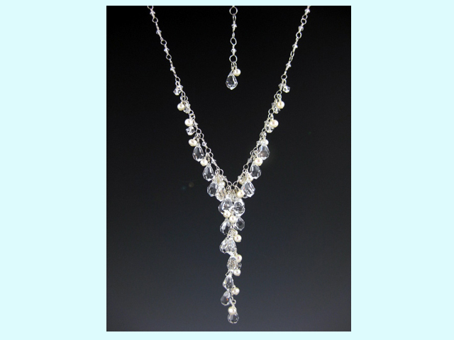 Jewelry, white, Necklaces, Wedding, Bridal, Crystal, Necklace, Everything angelic