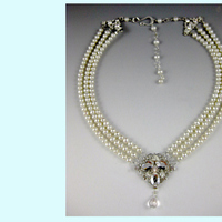 Jewelry, Necklaces, Wedding, Bridal, Water, Necklace, Pearl, Fresh