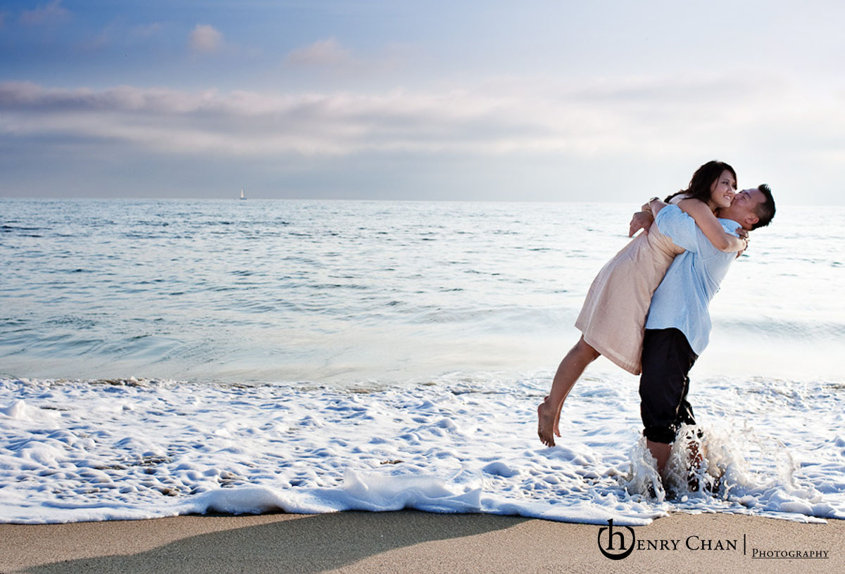 Beach, Bride, Groom, Engagement, Laguna, Henry chan photography