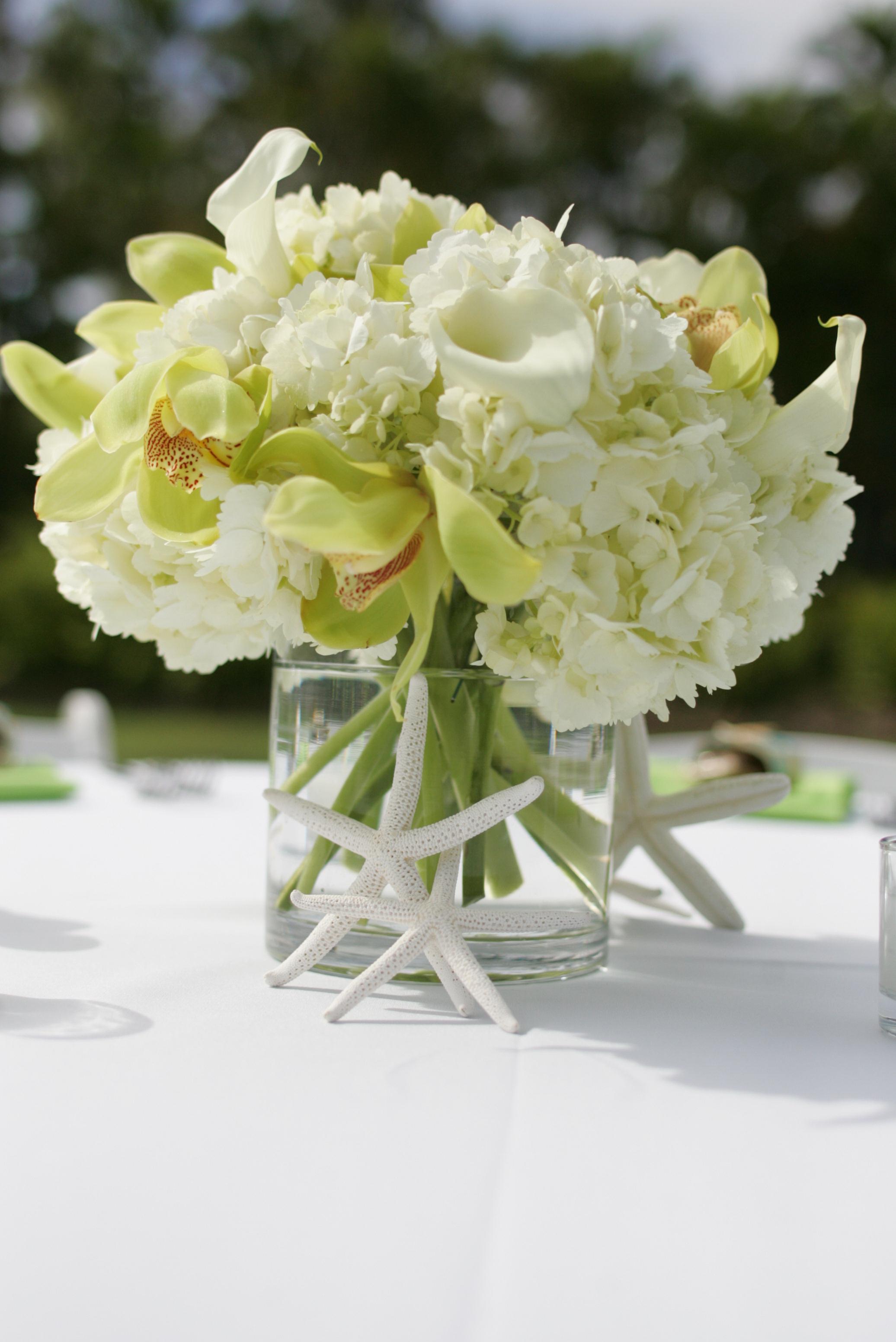 Flowers & Decor, white, green, Centerpieces, Flowers, Centerpiece