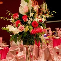 Reception, Flowers & Decor, white, pink, Bouquet floral design