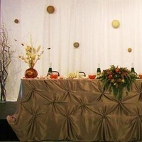 Reception, Flowers & Decor, white, orange, brown, gold, Table, Head, Dream day design