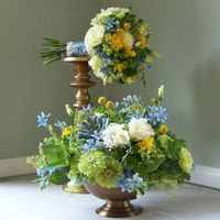 Flowers & Decor, white, ivory, yellow, blue, green, Bride Bouquets, Centerpieces, Flowers, Bouquet, Centerpiece, Floral verde llc