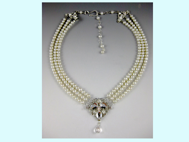 Jewelry, white, silver, Necklaces, Vintage, Wedding, Bridal, Necklace, Pearl, Everything angelic