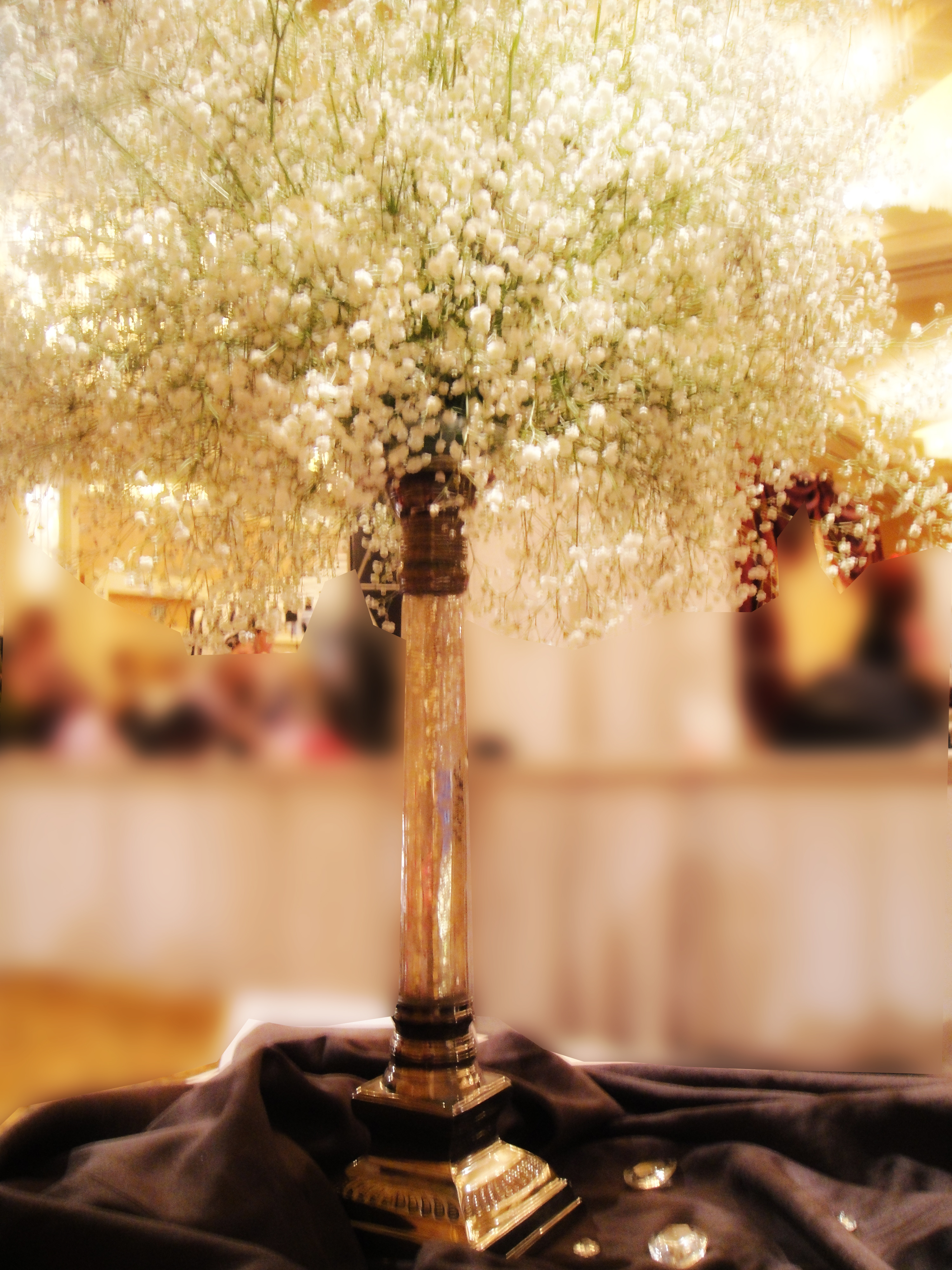 Simple centerpiecevendors dees petals project wedding