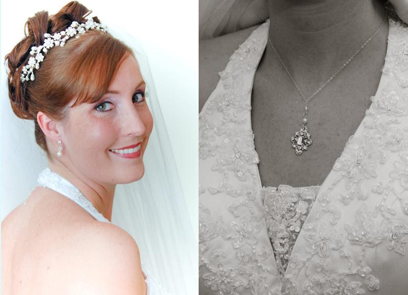 Jewelry, silver, Necklaces, Vintage, Wedding, Bridal, Necklace