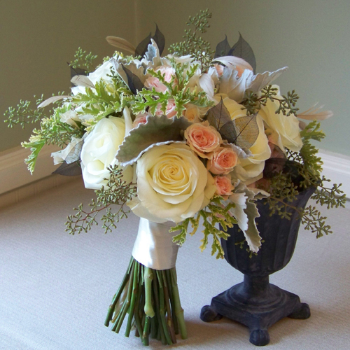 Flowers & Decor, white, pink, green, black, Bride Bouquets, Flowers, Bouquet, Blush, Floral verde llc, Skeleton leaves