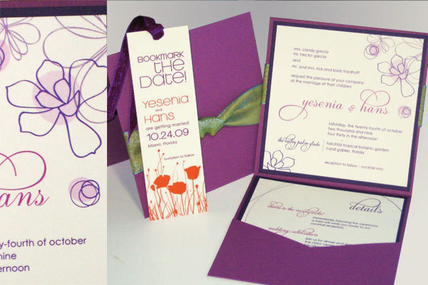 Flowers & Decor, Stationery, Destinations, purple, North America, Garden, Modern Wedding Invitations, Invitations, Wedding, Florida, Miami
