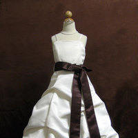 Flowers & Decor, Wedding Dresses, Fashion, ivory, dress, Flower, Girl, Chocolate, Up, Pick