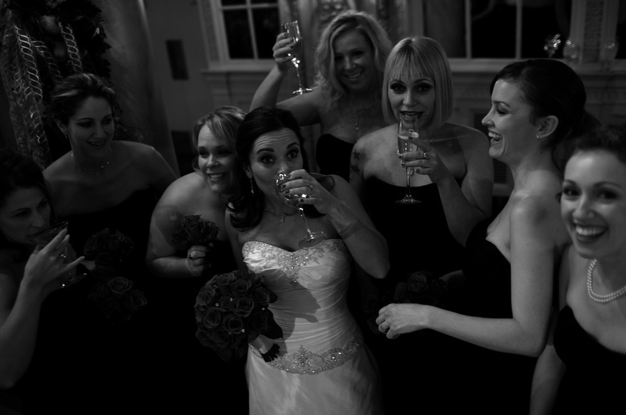 Bridesmaids, Bridesmaids Dresses, Fashion, ivory, Bride, Drink, Champagne, Sol neelman photography