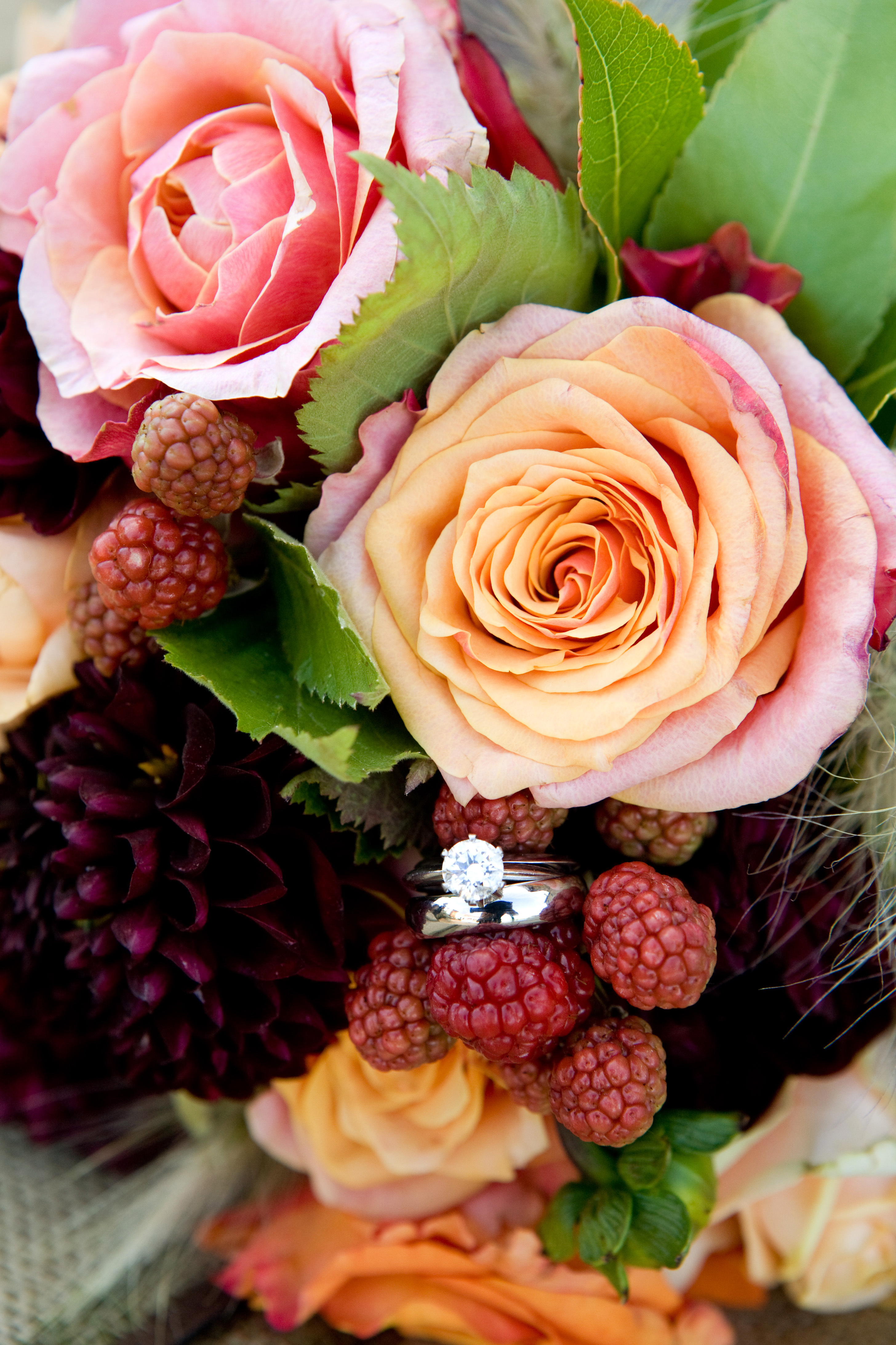 Flowers & Decor, orange, pink, red, purple, green, gold, Flowers, Brides bouquet, bridal bouquet, Dragonfly floral