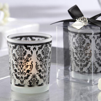 Reception, Flowers & Decor, Favors & Gifts, white, black, favor, Wedding, Candle, Decoration, Candle Wedding Favors, Swanky chicks