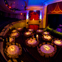 Reception, Flowers & Decor, pink, red, purple, venue, Theater, Brett matthews photography