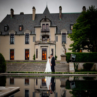 Inspiration, Wedding Dresses, Fashion, white, green, brown, dress, Water, Board, Couple, Castle