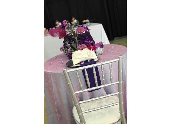 Flowers & Decor, purple, silver, Flowers, Bridal, Shower, Bash event studio