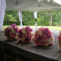Flowers & Decor, Bridesmaids, Bridesmaids Dresses, Fashion, pink, Bride Bouquets, Bridesmaid Bouquets, Flowers, Bouquet, Bridesmaid, Bridal, Bouqet, A h designs llc, Flower Wedding Dresses