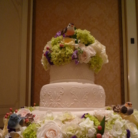 Flowers & Decor, Cakes, ivory, pink, cake, Flowers, Fresh, Stencil, Ciao bella cakes