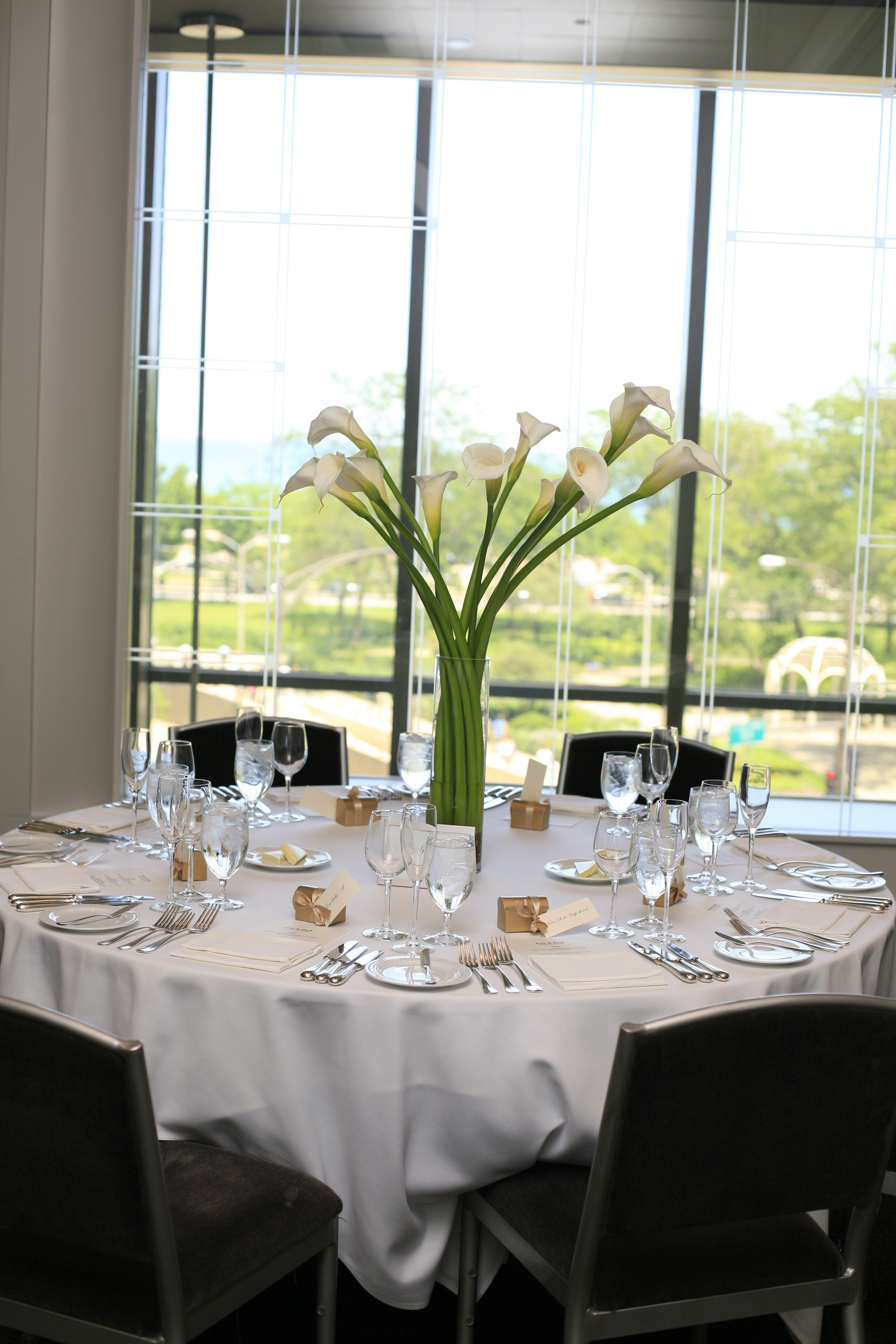 Flowers & Decor, white, gold, Centerpieces, Flowers, Centerpiece, Callas