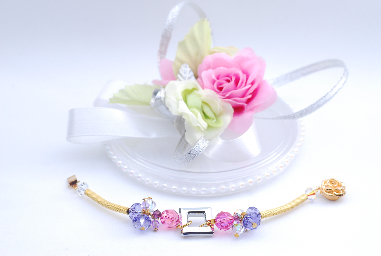 Jewelry, pink, purple, gold