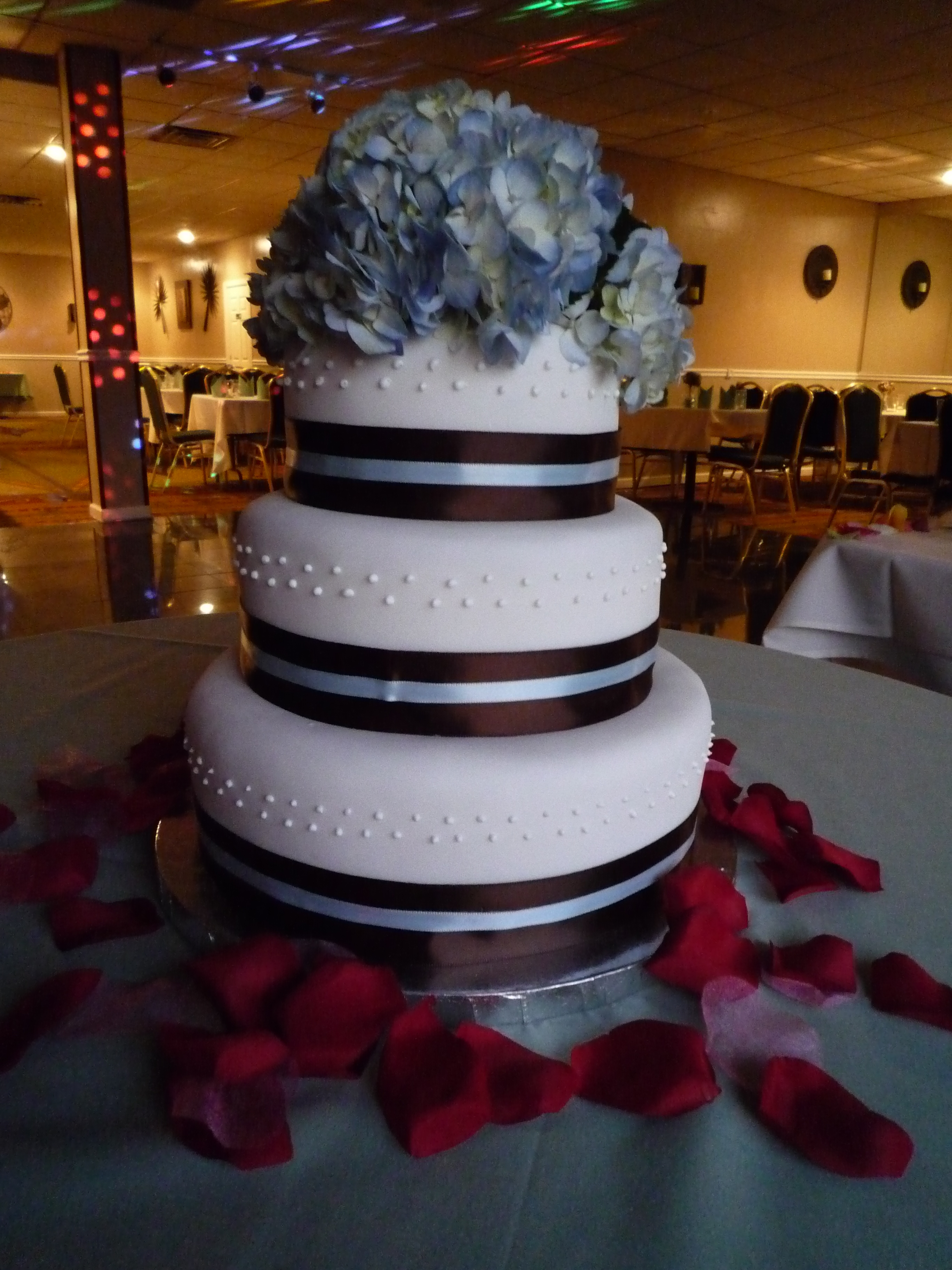 Flowers & Decor, Cakes, white, black, cake, Ribbon Wedding Cakes, Flowers, Ribbon, Fresh, Ciao bella cakes