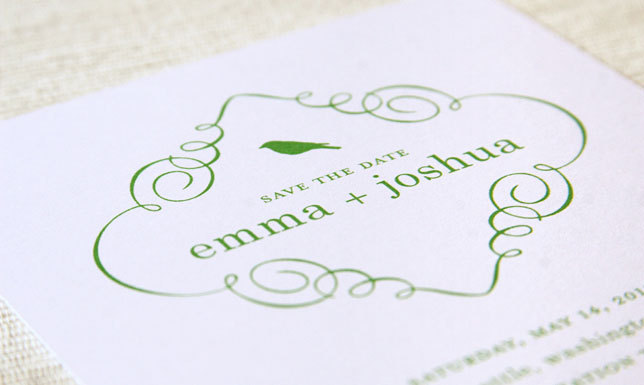 Stationery, green, Modern, Invitations, Save the date, Bird, Card, Maida vale