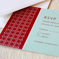 Stationery, red, blue, invitation, Modern, Modern Wedding Invitations, Invitations, Reply Cards, Wedding, Pattern, Maida vale