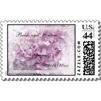 Flowers & Decor, Stationery, pink, Invitations, Flower, Floral, Blossom, Hydrangea, Stamps, Postage stamps, A wedding collection by lora severson photography, Hydrangea wedding, Wedding postage stamp