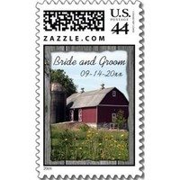 Stationery, red, Invitations, Barn, Country, Stamps, Farm, Postage stamps, A wedding collection by lora severson photography, Barn wedding, Farm wedding, Country wedding, Wedding postage stamp