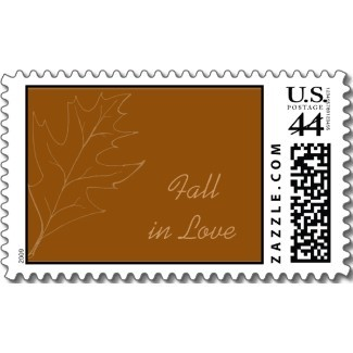 Fall, Stamps, Autumn, Fall wedding, Autumn leaves, Autumn wedding, Postage stamps, Oak leaf, Wedding postage stamp, Fall in love