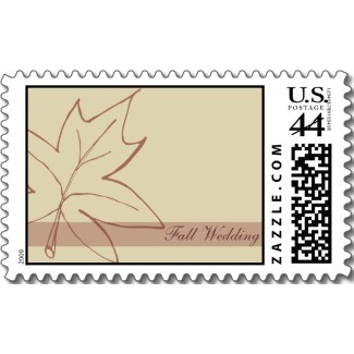 Stationery, brown, Fall, Invitations, Stamps, Autumn, Fall wedding, Seasonal, November wedding, Autumn wedding, Postage stamps, A wedding collection by lora severson photography, Wedding postage stamp, October wedding, September wedding