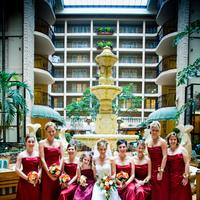 Beauty, Flowers & Decor, Bridesmaids, Bridesmaids Dresses, Wedding Dresses, Fashion, red, dress, Bridesmaid Bouquets, Flowers, Hair, Travis johansen photography, Flower Wedding Dresses