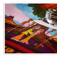 Jewelry, yellow, orange, pink, red, purple, blue, green, Rings, Art, Drawing, Zelo photography