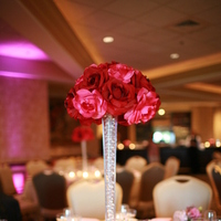 Reception, Flowers & Decor, pink, red, Centerpieces, Flowers, Centerpiece