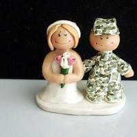Cakes, white, pink, green, silver, cake, Bride, Groom, Wedding, Topper, Military, Marines, Army, Soldier, Acu, Ginger babies