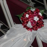 Ceremony, Flowers & Decor, burgundy, Ceremony Flowers, Aisle Decor, Flowers, Aisle, Rhinestones