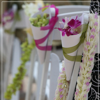 Ceremony, DIY, Flowers & Decor, Decor, white, purple, green, Ceremony Flowers, Aisle Decor, Flowers, Orchids, Aisle, Dendrobium, Katie b photography