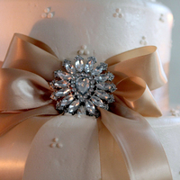 Reception, Flowers & Decor, Cakes, brown, silver, cake, Remember me photography