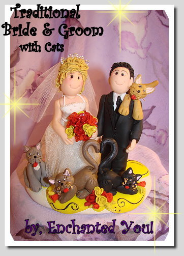 Reception, Flowers & Decor, Cakes, white, yellow, orange, pink, red, purple, blue, green, brown, black, silver, gold, cake, Flowers, Custom, Unique, Wedding cake, Wedding cake topper, Personalised, Polymer caly, Enchantedyou