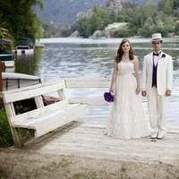Wedding Dresses, Fashion, white, purple, dress