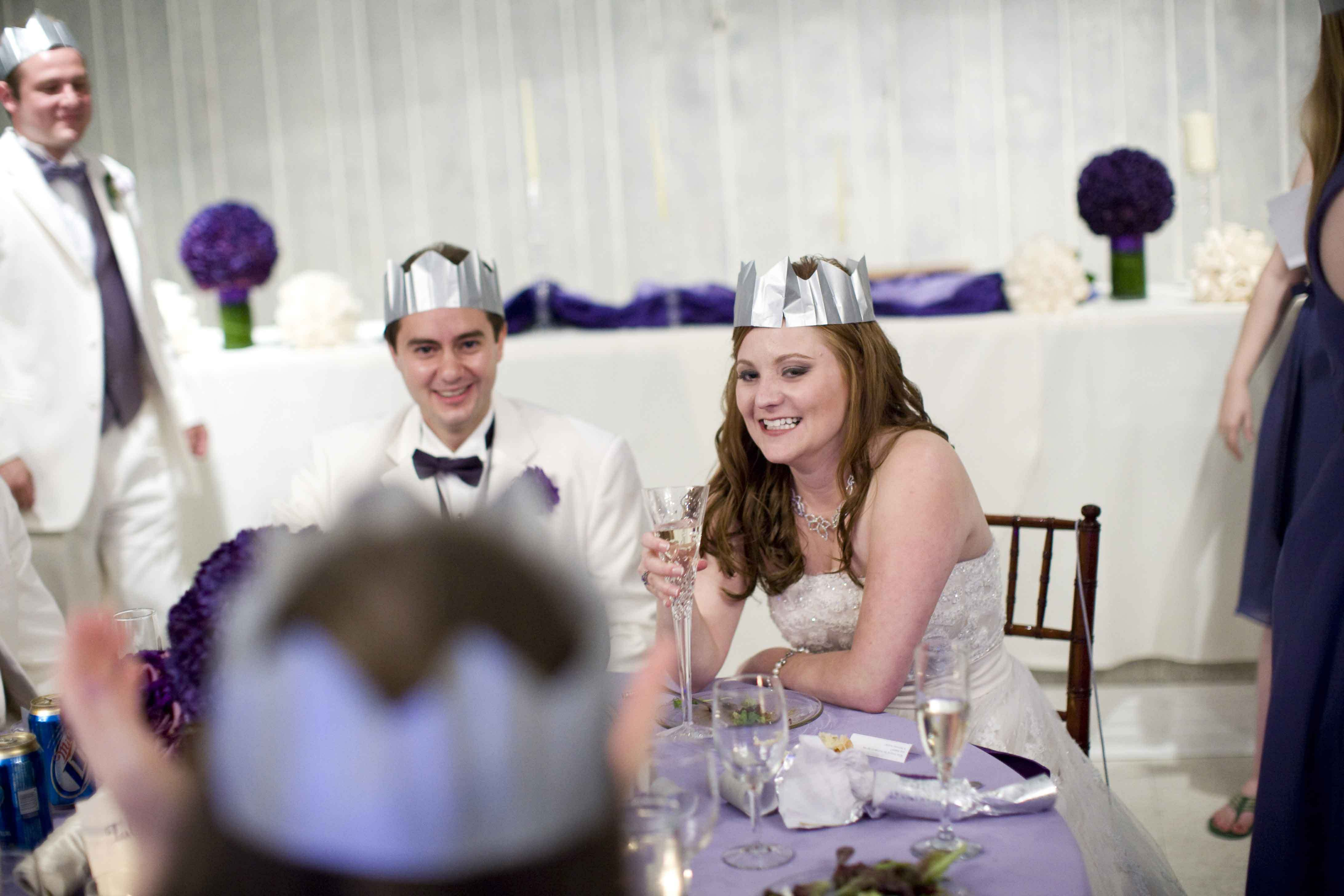 Reception, Flowers & Decor, white, purple