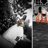 Ceremony, Flowers & Decor, Wedding Dresses, Fashion, yellow, orange, black, dress, Ceremony Flowers, Flowers, Flower Wedding Dresses