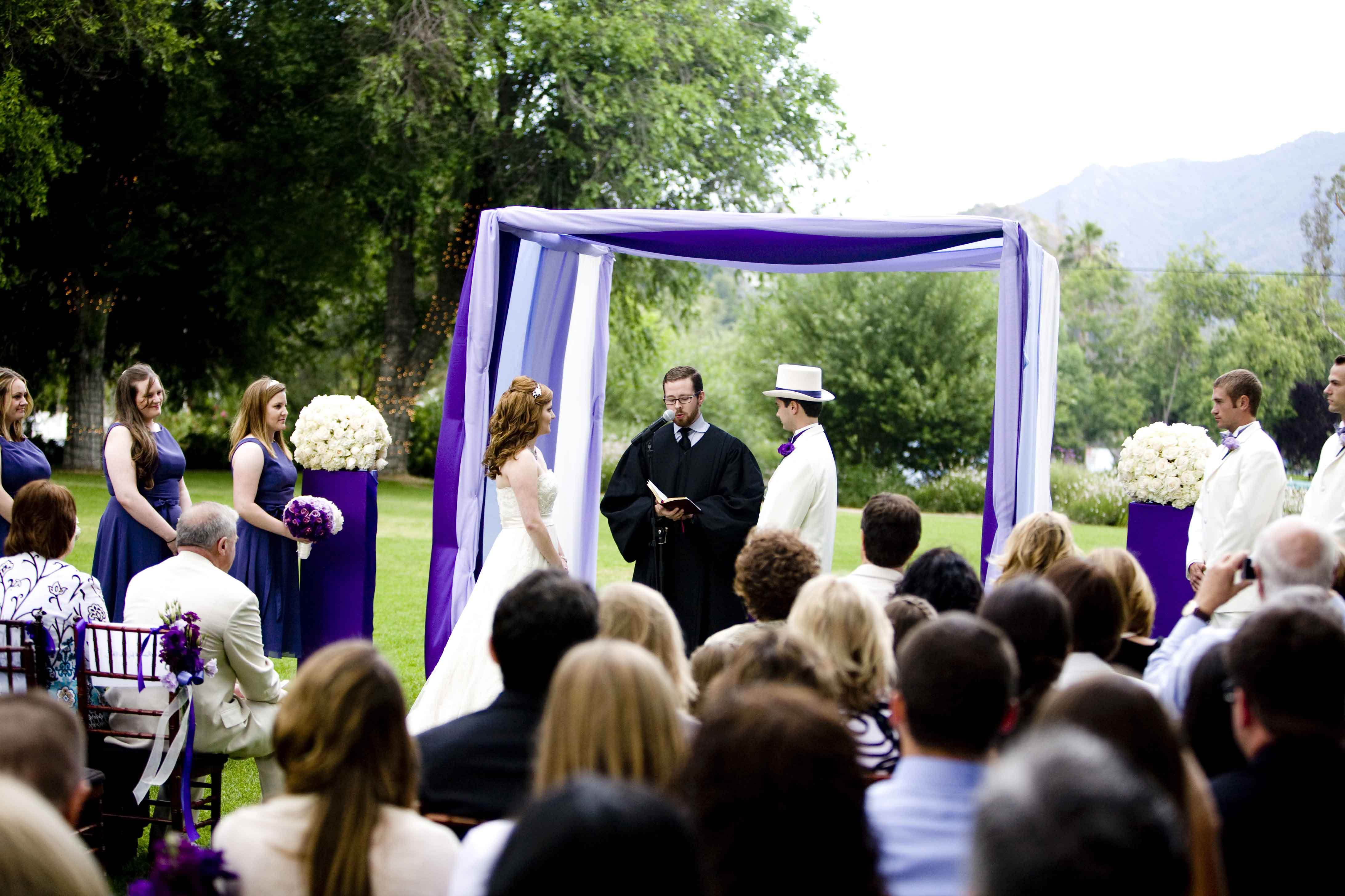 Ceremony, Flowers & Decor, white, purple