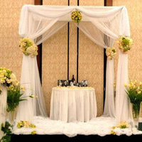 Ceremony, Flowers & Decor, white, blue, green, brown, Ceremony Flowers, Flowers, Chuppah, Alter, One sweet affair